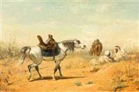 rastende araber by adolf schreyer