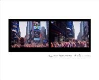 yoga, times square, new york by eve sonneman