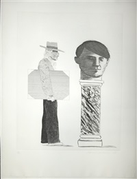 the student – hommage à picasso by david hockney