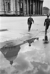 soldiers in front of saint isaacs cathedral, leningrad by henri cartier-bresson