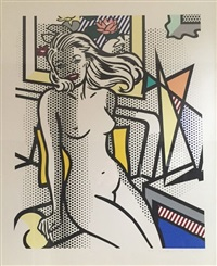 nudes series: nude with yellow pillow by roy lichtenstein