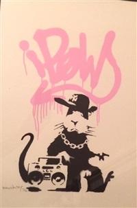 gangsta rat pink by banksy