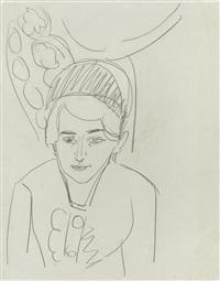 frauenportrait (doris grosse) by ernst ludwig kirchner