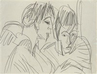 paar by ernst ludwig kirchner