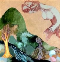 woman in sky by ken kiff