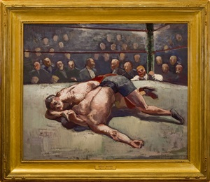 wrestlers by abraham jacob bogdanove