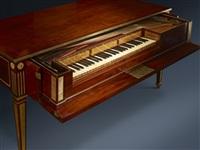 historical piano, neuwied by david roentgen