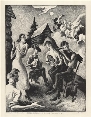 coming 'round the mountain by thomas hart benton