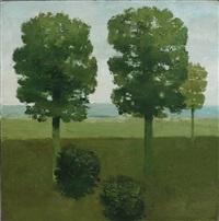 trees and bushes, east hampton by albert york