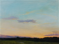 twilight over the marshes by sandy garvin