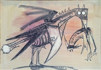 untitled (pájaro) by wifredo lam