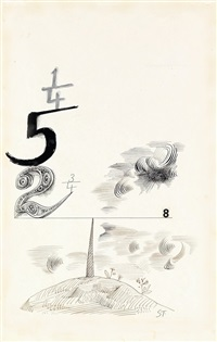 equivalent of 8 by saul steinberg