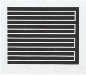 open left (from set of six aquatints) by donald judd
