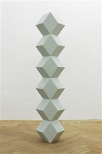 stack of six regular rhombus seagrass corian by angela bulloch