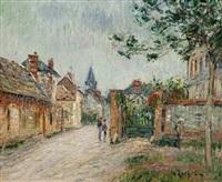 le rue de village, saint-cyr-du-vaudreuil by gustave loiseau