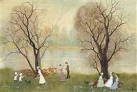 beside the river wyre by helen bradley