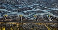 markarfljot river #3, erosion control, iceland by edward burtynsky