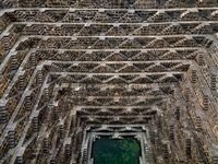 stepwell #3, chand baori, abhaneri, rajasthan, india by edward burtynsky