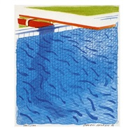 paper pools by david hockney