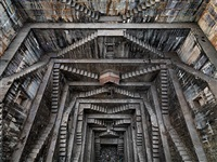 stepwell #5, nagar kund baori, bundi, rajasthan, india by edward burtynsky