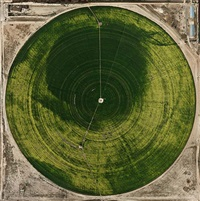 pivot irrigation #39, high plains, texas panhandle, usa by edward burtynsky