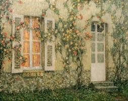 la maison aux roses, versailles by henri le sidaner