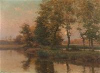 soir d'automne (vallée d'essonne) by albert gabriel rigolot