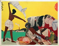 ritual bayou series by romare bearden