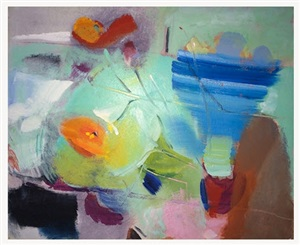 poppy haze by ivon hitchens