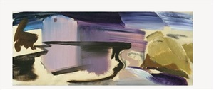 mill & pool by ivon hitchens