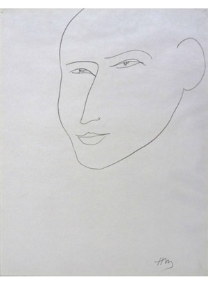 portrait of martin fabiani by henri matisse