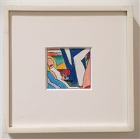 study for sunset nude (variation #3) by tom wesselmann