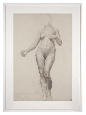 école des beaux-arts: female figure, front #2 by john flanagan