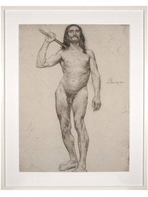 école des beaux-arts: male with long hair by john flanagan