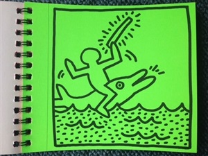 keith haring first tokyo exhibition catalogue by keith haring
