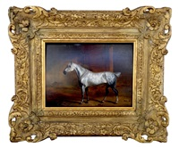white horse in stable by john frederick herring the elder