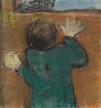 figure at the window by edouard vuillard
