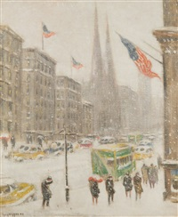 midtown fifth avenue, winter by guy carleton wiggins