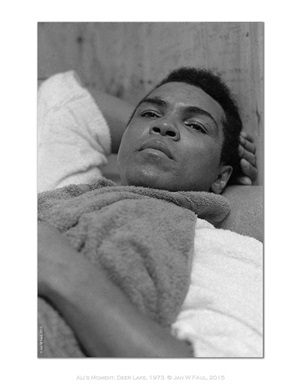 the ali portraits - ali lying down by jan w. faul