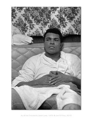 the ali portraits - ali sits and thinks by jan w. faul