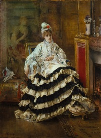 avant le spectacle by alfred stevens