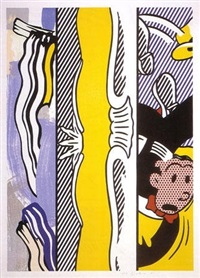 two paintings: dagwood by roy lichtenstein