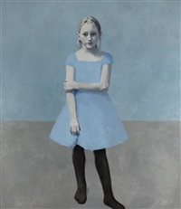 girl with pale hair, 4 by claerwen james