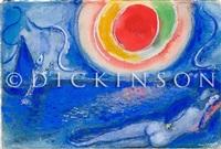les amoureux à drammont by marc chagall