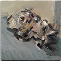 reclining head of julia by frank auerbach