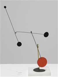 yellow davit on comma by alexander calder