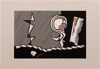 figures with rope by roy lichtenstein