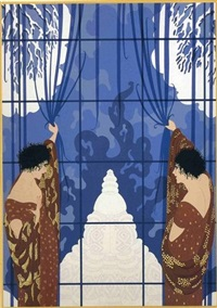 winter's arrival by erté
