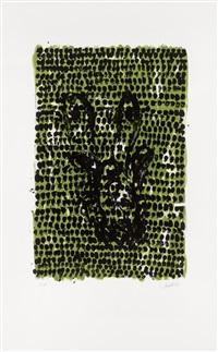 grünes tuch / green cloth by georg baselitz