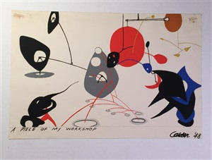 """a piece of my workshop"", wallpaper, 1948 by alexander calder"